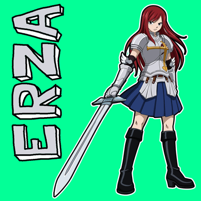 How to draw Erza Scarlet from Fairy Tail with easy step by step drawing tutorial