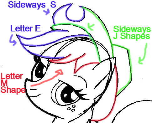 Step 6a : Drawing Apple Jack from My Little Pony in Easy Steps Lesson