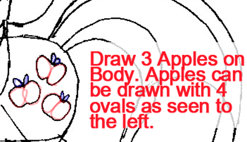 Step 7 : Drawing Apple Jack from My Little Pony in Easy Steps Lesson