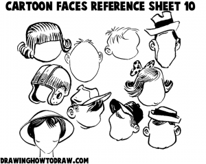 Cartoon Faces Reference Sheets and Examples 10