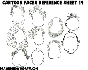 Cartoon Faces Reference Sheets and Examples 14