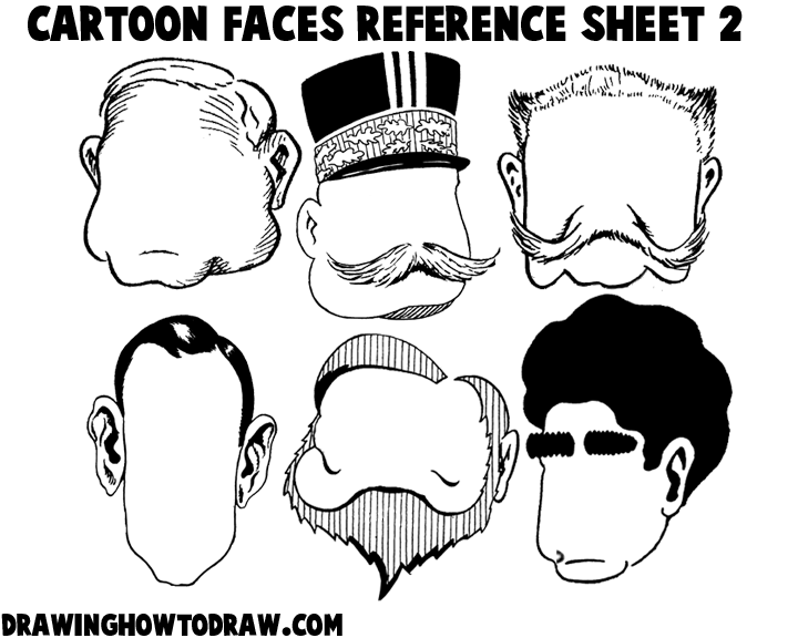 Cartoon Faces Reference Sheets and Heads Examples for Drawing ...