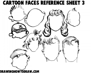 Cartoon Faces Reference Sheets and Examples 3