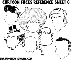 Cartoon Faces Reference Sheets and Examples 6