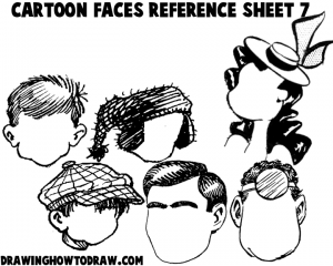 Cartoon Faces Reference Sheets and Examples 7