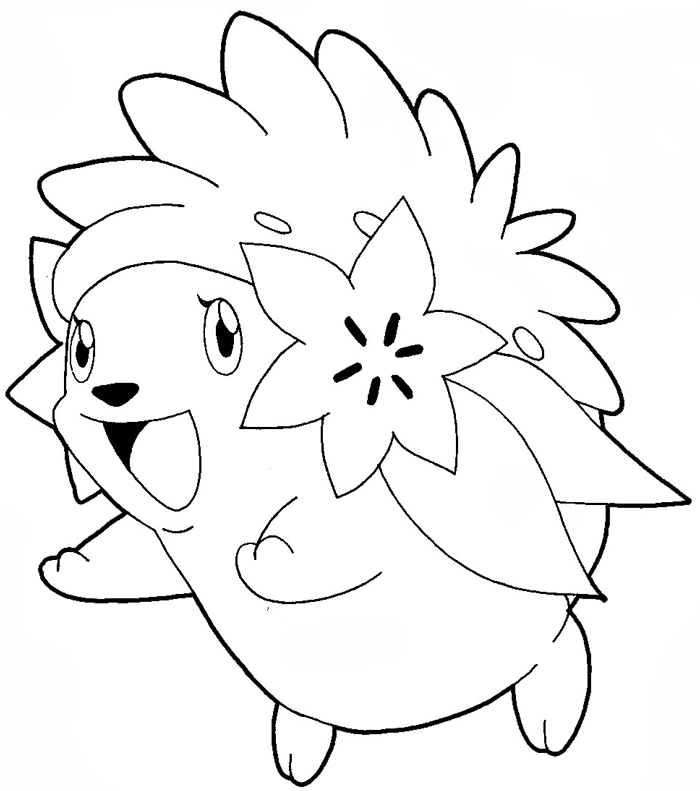 How to draw Shaymin from Pokémon with easy step by step drawing tutorial