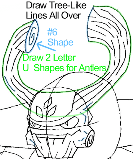 Step 6 : Drawing Tree Rex from the game Skylanders: Giants in Easy Steps Lesson