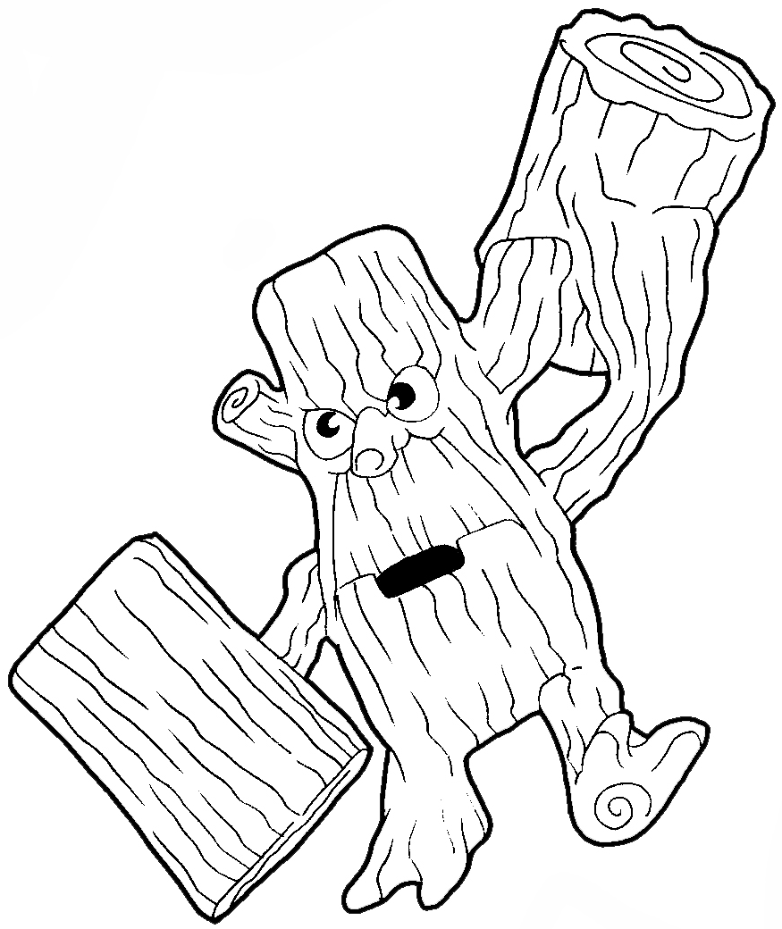 Old Tree Stump. Vector Sketch - Download From Over 50 Million High ...