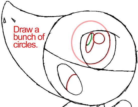 Step 6b : Drawing Snivy from Pokémon in Easy Steps Lesson