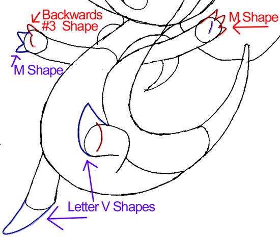 Step 8 : Drawing Snivy from Pokémon in Easy Steps Lesson