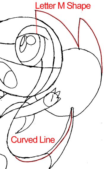 Step 9 : Drawing Snivy from Pokémon in Easy Steps Lesson