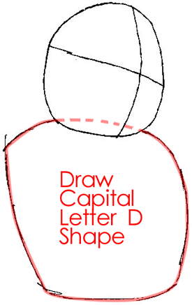 Step 2 : Drawing Wolf O'Donnell from the Star Wolf Team in Easy Steps Lesson