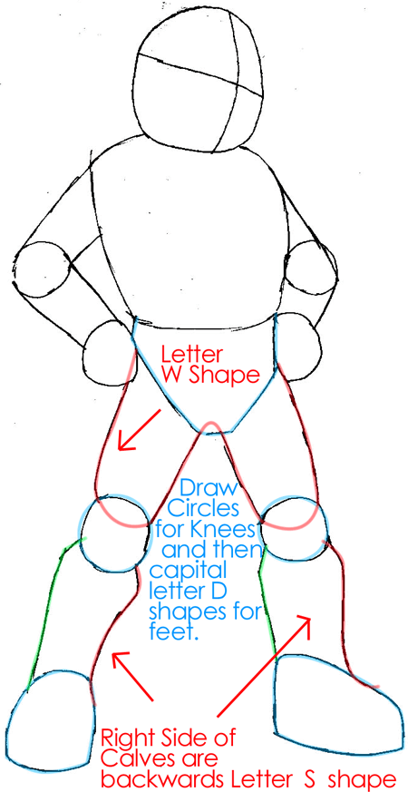 Step 4 : Drawing Wolf O'Donnell from the Star Wolf Team in Easy Steps Lesson