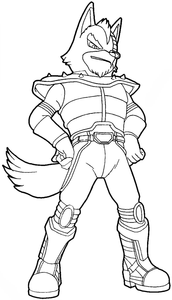 How to draw Wolf O'Donnell from the Star Wolf Team with easy step by step drawing tutorial