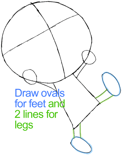 Step 4 : Drawing Plue from Fairy Tail in Easy Steps Lesson