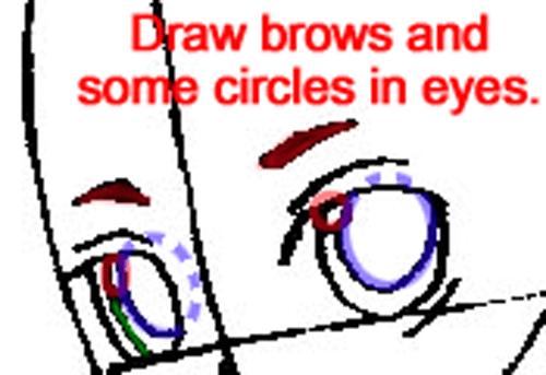 Step 5b : Drawing Teto Kasane in Easy Steps Lesson