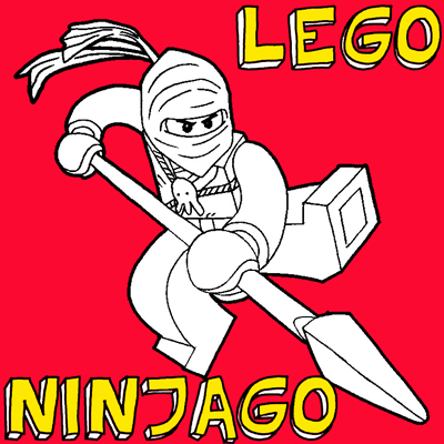 How to draw Jay Walker from LEGO Ninjago with easy step by step drawing tutorial