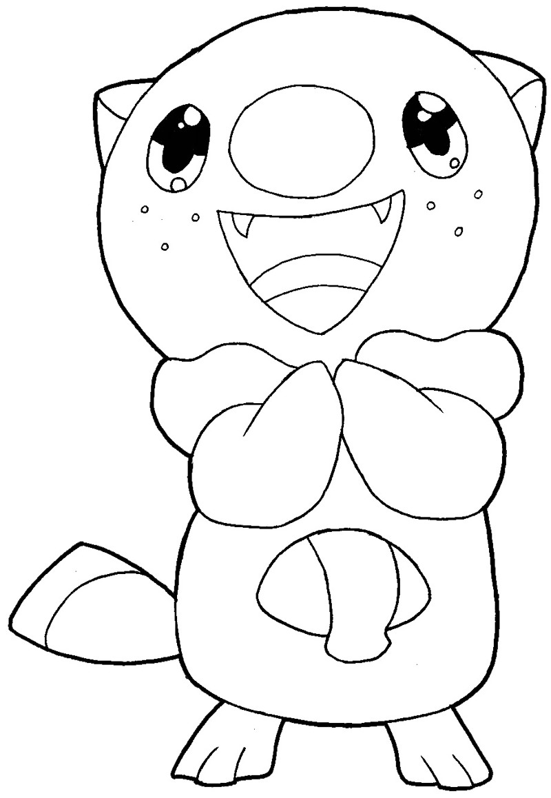 How to draw Oshawott from Pokémon with easy step by step drawing tutorial