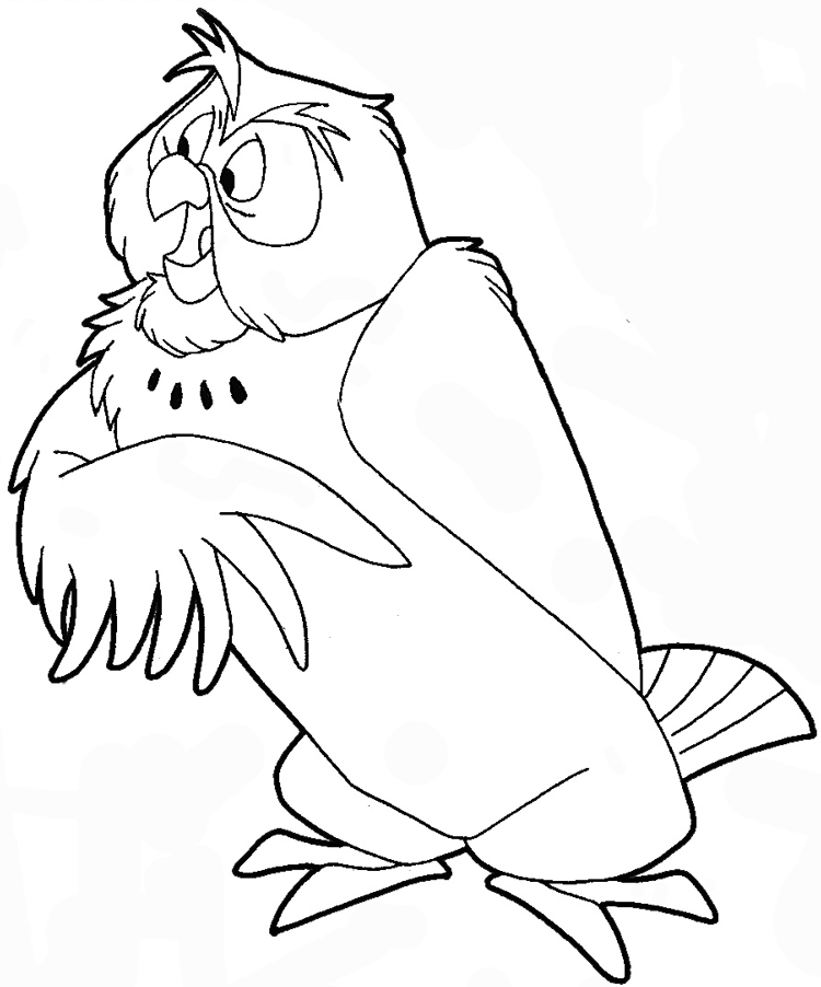 How to draw owl from winnie the pooh with easy step by for Draw the owl