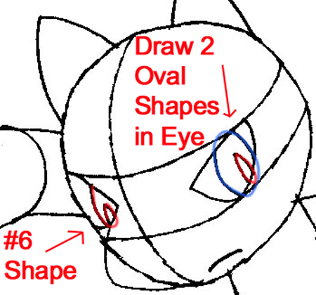 Step 5b : Drawing Riolu from Pokémon in Easy Steps Lesson