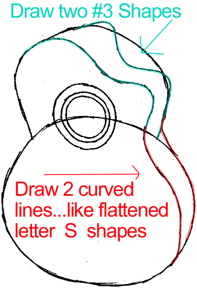 Step 4 : Drawing a Guitar in Easy Steps Lesson