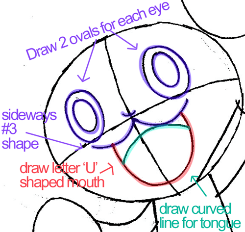 Step 5 : Drawing Pansage from Pokémon in Easy Steps Lesson