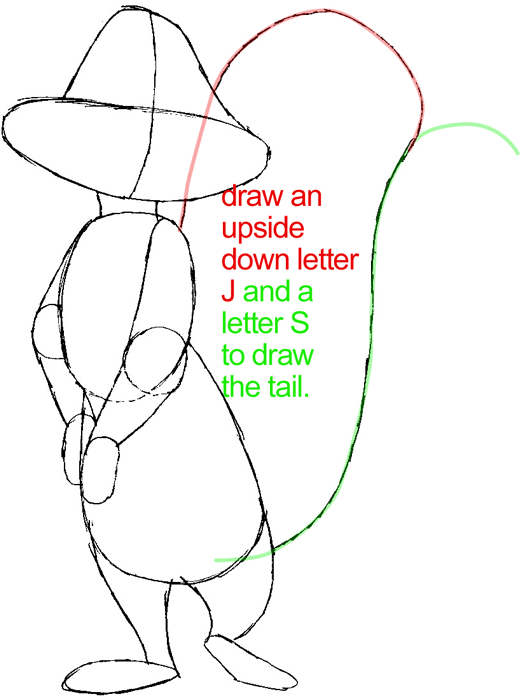 Step 5 : Drawing Penelope Pussycat from Looney Tunes in Easy Steps Lesson