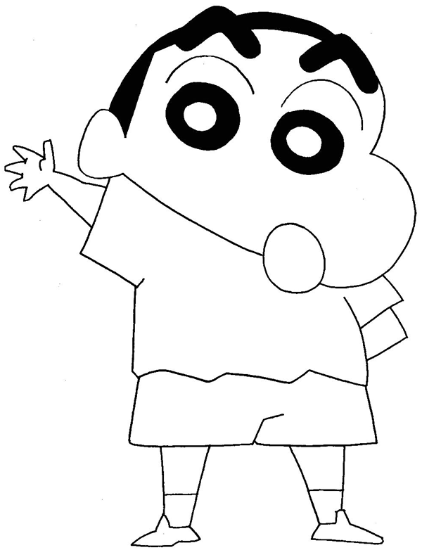 How To Draw Shinnosuke Nohara From Crayon Shin Chan With Easy Step By Step Drawing Tutorial ...