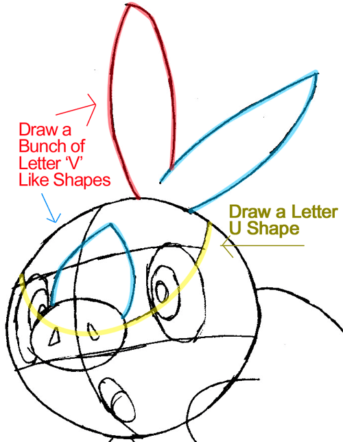 Step 5 : Drawing Tepig from Pokémon in Easy Steps Lesson