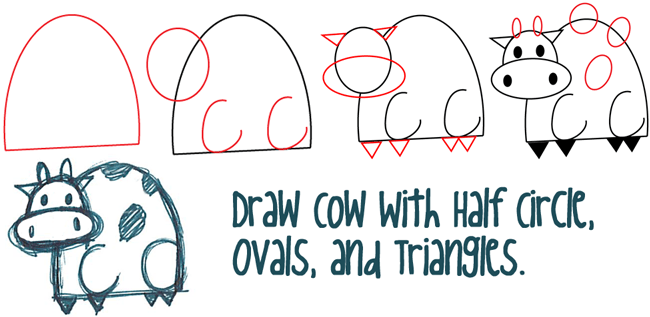 Letter D Cartoon Cows