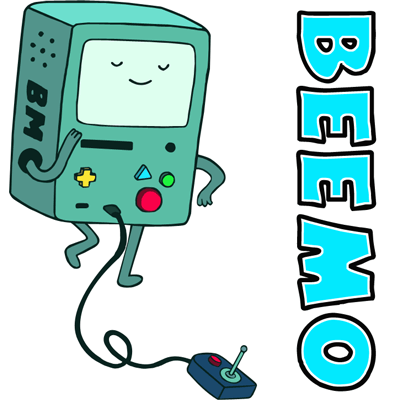 How to draw Beemo from Adventure Time with easy step by step drawing tutorial