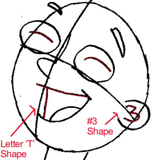 Step 5b : Drawing Jeremy Johnson from Phineas and Ferb in Easy Steps Lesson