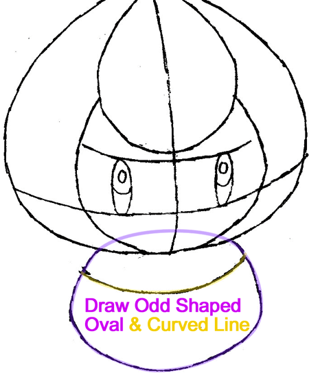 Step 4 : Drawing Petilil from Pokémon in Easy Steps Lesson