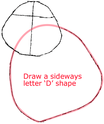Step 2 : Drawing Timmy from Timmy-tid in Easy Steps Lesson