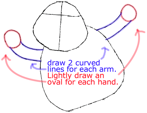 Step 3 : Drawing Timmy from Timmy-tid in Easy Steps Lesson