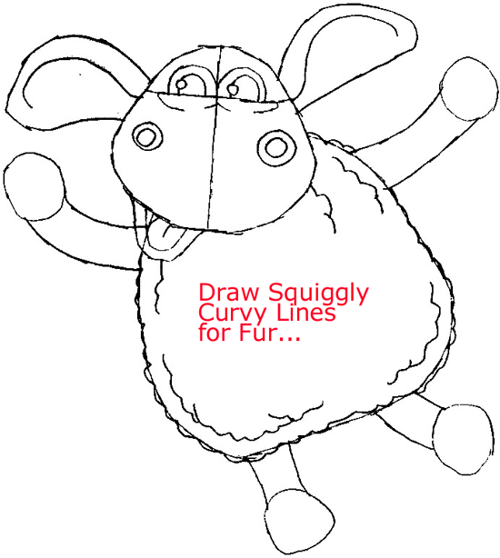 Step 7 : Drawing Timmy from Timmy-tid in Easy Steps Lesson