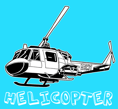 How to Drawing Helicopter with Easy Step by Step Drawing Lessons and Tutorials for Kids, Teens