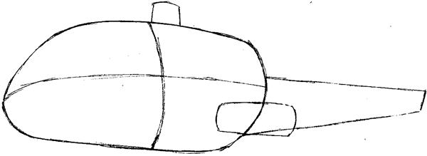 how to draw an easy helicopter