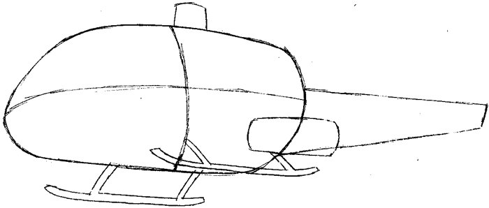 Step 4 : Drawing Helicopter in Easy Steps Lesson