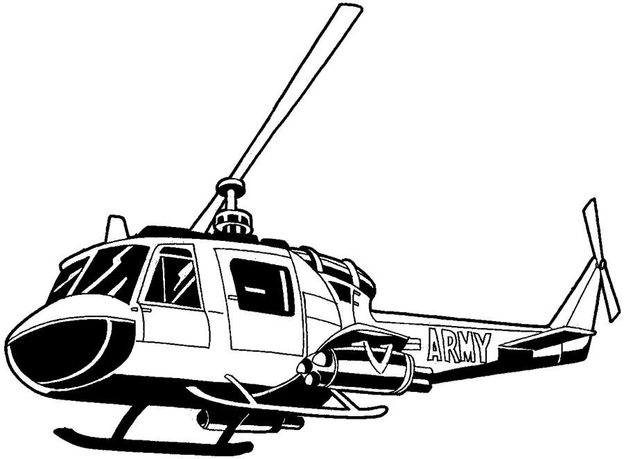 Line Drawing Helicopter : How to draw a helicopter with easy step by drawing