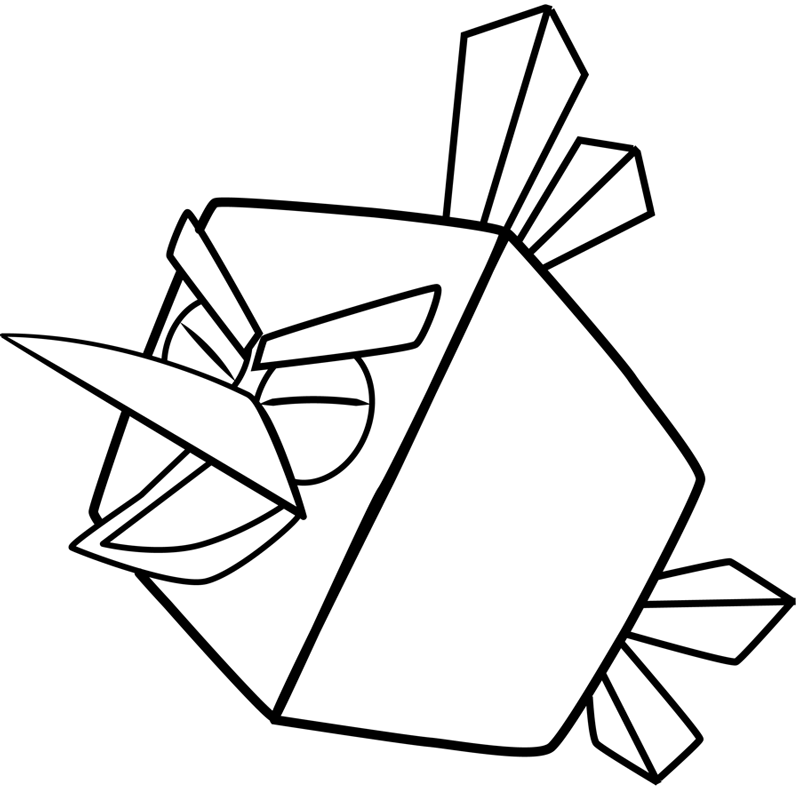how to draw ice bird from angry birds space with easy step by step