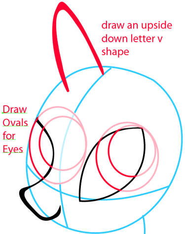 Step 4 : Drawing Rarity from My Little Pony in Easy Steps Lesson