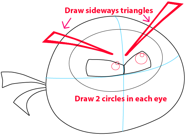 Step 4 : Drawing Orange Bird from Angry Birds in Easy Steps Lesson