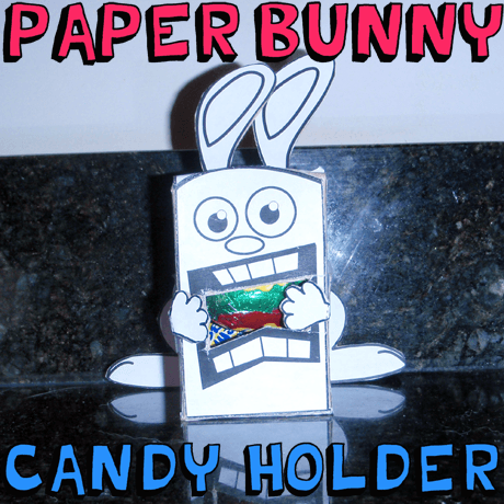 Foldable Easter bunny paper toy craft