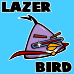 How to draw Lazer Bird from Angry Birds Space with easy step by step drawing tutorial