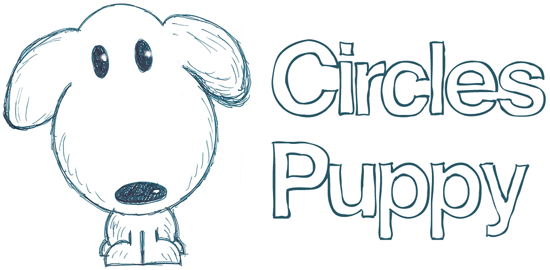 How to draw a circles puppy dog