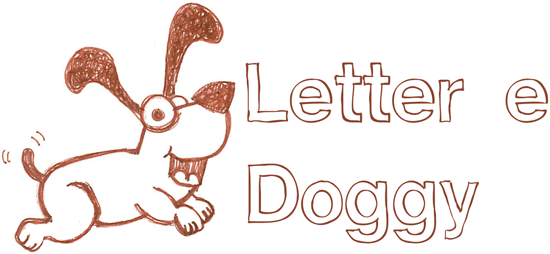 How to draw a puppy with a lowercase e body