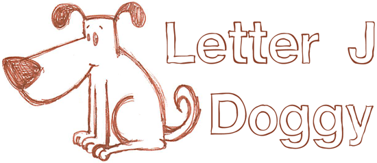 How to draw a simple doggy with a letter J