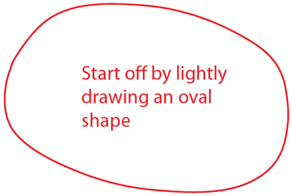 Step 1 : Drawing Poppet from Moshi Monsters in Easy Steps Lesson