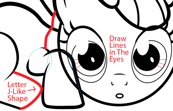 Step 12 : Drawing Apple Bloom from My Little Pony in Easy Steps Lesson